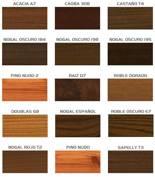 Sicilia hermanos acabados aluminio anodizados - Tipos de barnices para madera ...